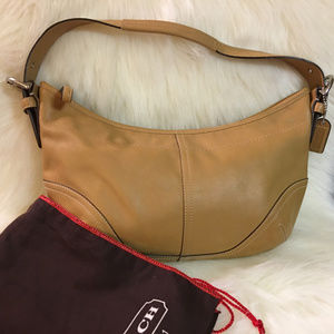 COACH Tan Leather Medium Classic SOHO Hobo NEW!!